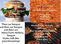 Arlene's Fort Worth Burger Seasoning,..., Nutrition in Hart County