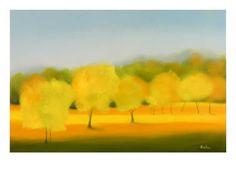 Sunflower Sunset, Tuscany Print by Hazel Barker at Art.com