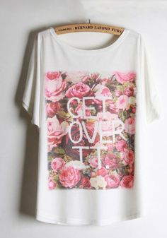Get Over It Floral Tee