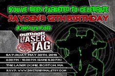 Laser Tag Birthday Invitation  Lazer Tag  Indoor by InvitesByMaL