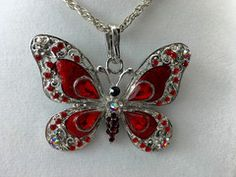 Red Butterfly Feng Shui Pendant Necklace #red #butterfly #pendant #necklace #fengshui