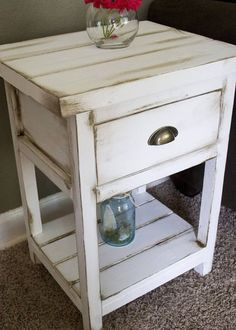 Super Diy Furniture Redo Nightstand End Tables Living Rooms Ideas Farmhouse End Tables, Rustic End Tables, Diy End Tables, Distressed End Tables, Painted End Tables, Side Tables, Western Furniture, Distressed Furniture, Rustic Furniture