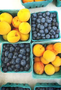 Fruit Photograph, Blueberries and Apricots, Farmers' Market Photography, Kitchen Decor by SilverAndSalt on Etsy