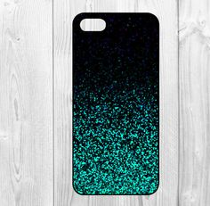 Glitter iphone 5 case iphone iphone 5s case by DragonSashimi, $7.90. This case is soooooo pretty. I love the color.