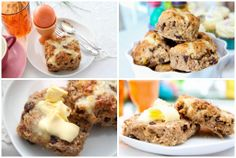 Hot Cross Scones - Alice in Bakingland Egg Hunt, Scones, Yummy Treats, Easter Eggs, Smoothies, Biscuits, Muffin, Alice, Tasty