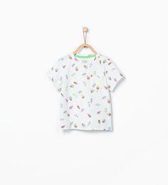 Image 1 of Ice-cream print T-shirt from Zara