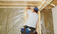 Shed Vapor Barrier Shed Interior, Bathroom Interior, Interior Design, Shed Building Plans, Shed Plans, Insulating A Shed, Pressure Treated Plywood, Rigid Insulation, Shed Makeover
