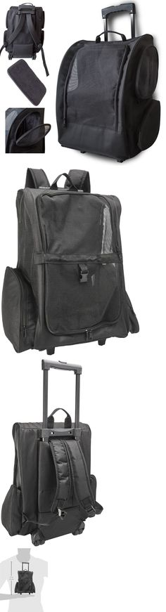 Carriers and Totes 177788: Oxgord Pet Carrier Dog Cat Rolling Back Pack Travel Airline Wheel Luggage Bag BUY IT NOW ONLY: $45.95