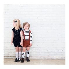 Such a gorgeous shot featuring our Black and White Tee from one of my favorites @monpetitshoes new Fall collection. So many of my favorite shops in one beautifully styled image by @katieperkesphotography