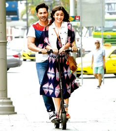 Varun Dhawan and Alia Bhatt in 'Badrinath Ki Dulhaniya'. #Bollywood