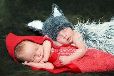 newborn photography prop-wolf beanie hat- newborn-2 months-soft to skin wool blend yarn-baby shower gift. $18.99, via Etsy.