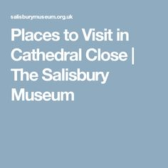 Places to Visit in Cathedral Close | The Salisbury Museum