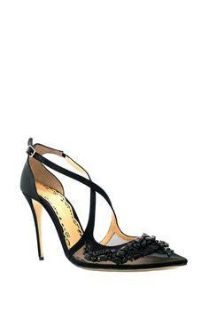 Daphne Embellished Pump by Marchesa Marchesa Shoes, Marchesa Fashion, Fashion Bags, Fashion Shoes, Embellished Shoes, Decorated Shoes, Pumps, Heels, Toe Shoes