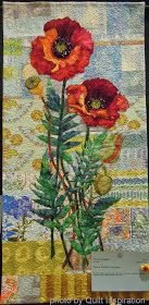 Quilt Inspiration: Highlights of the 2014 River City Quilters' Guild Show - The Finale. Two Poppies by Jan Soules.  22 x 46