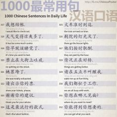 1000 Chinese Sentences In Daily Life - Part 21