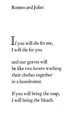 Romeo and Juliet,Richard Brautigan