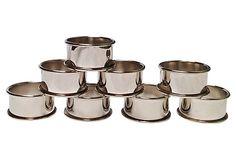 Silverplate Napkin Rings, S/8 on OneKingsLane.com