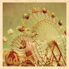 vintage photography look; I want this for the master bath, where I have a photo of the miniature amusement park on Victoria Island or wherever