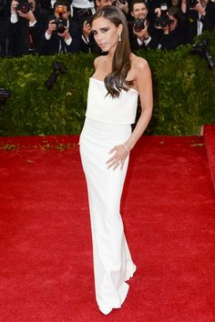 Victoria Beckham wearing a dress of her own design. Everything she does is fabulous.