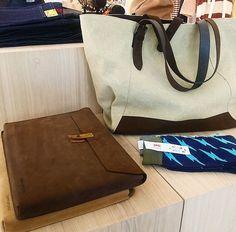 Regram: @meravigliastore; our Pc/Documents Envelope & Farm Tote Bag.#handmade #newzealand #leather #envelope #bags #kjoreproject @kjoreproject