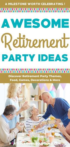 If you are in charge of an upcoming retirement party and are feeling a little overwhelmed, don't worry! We're here to provide you with the theme, food, decoration, and venue ideas you need to make the day your loved one has worked so hard for a success! #retirementparty #retirement #partyideas