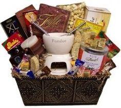 Velata Fondue gift basket another date night basket? Homemade Gift Baskets, Diy Gift Baskets, Raffle Baskets, Homemade Gifts, Basket Gift, Theme Baskets, Themed Gift Baskets, Date Night Basket, Holiday Gifts