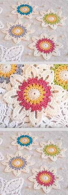 Transcendent Crochet a Solid Granny Square Ideas. Inconceivable Crochet a Solid Granny Square Ideas. Crochet Puff Flower, Crochet Flower Patterns, Crochet Patterns For Beginners, Love Crochet, Easy Crochet, Crochet Flowers, Irish Crochet, Beautiful Crochet, Crochet Gifts