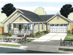 Country House Plan with 1147 Square Feet and 2 Bedrooms from Dream Home Source   House Plan Code DHSW075875