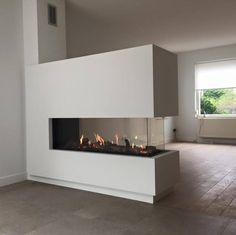 The Best 2019 Interior Design Trends - Interior Design Ideas Home Fireplace, Fireplace Design, Living Room With Fireplace, Interior Design Living Room, Living Room Designs, Built In Braai, Open Plan Kitchen Living Room, Home And Living, Condo