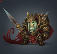 Skeleton King Concept The mad king of the undead concept by Dmitriy B.