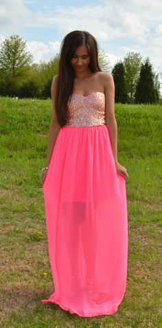 Finders Keepers Neon Maxi Dress