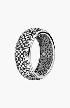 Updated eternity ring style ... very stylish | Jewelry Trends | Eternity Rings | Pandora Rings