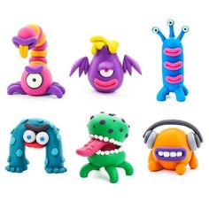 Become a professional clay artist!The 18 cans of quality clay included in this vibrant set are soft, lightweight, non-sticky, nontoxic, and stain-free - Perfect for young artists taking their first step into the magical world of clay creativity.The fun starts once you download the free app and gain full access to using the promo code included in the box.Pick one of the six figures, then follow along with the interactive 3D step-by-step instructions to masterfully mold it, one simple shape at a t Clay Crafts For Kids, Kids Clay, Arts And Crafts, Clay Projects For Kids, Polymer Clay Projects, Polymer Clay Crafts, Clay Magnets, Polymer Clay Magnet, Polymer Clay Animals