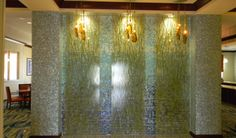 Architectural room divider/feature wall in specialty plastics