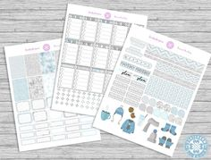 FREE Winter's Hues Printable Kit Planner Stickers by Luckicharms