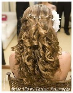 penteado-semi-preso-noiva-17 - Fotos de Penteados