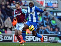 Wigan were in action against West Ham at the DW Stadium.