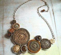 crochet motif necklace                                                                                                                                                                                 More