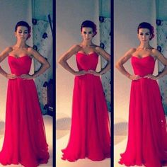 Simple Red prom dress = gorgeous!