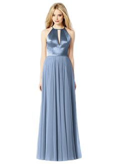 After Six 6705: A stunning satin and chiffon bridesmaid dress with cut-out detail.