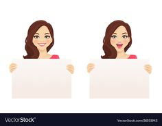 Woman witn board vector image on VectorStock Free Vector Images, Vector Free, Cute Sketches, Human Drawing, Cute Cartoon Girl, Art Clipart, Hand Painting Art, Beautiful Drawings, Illustrations And Posters