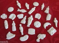 Les fèves en plastique blanc - années 70 et 80