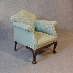 Antique Armchair Drawing Room Upholstered Easy Chair Victorian English c1900