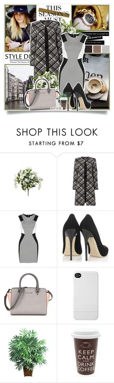 """""""1361"""" by likepolyvore13 ❤ liked on Polyvore featuring H&M, Seed Design, Ellen Tracy, Mason by Michelle Mason, Jimmy Choo, Incase, Nearly Natural, women's clothing, women's fashion and women"""