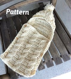 This is the pattern for my original design of my cable crochet newborn swaddle. This swaddle is stunning and will make a great gift. This pattern is user friendly. You will need to know the basics of crocheting cables. I have included instructions within the pattern on how to do this but if you need more assistance, you may contact me at any time. You will need aprox. 500 yards (1 1/2 skeins) of worsted weight yarn. This is the CROCHET PATTERN only. The finished product is available in m...