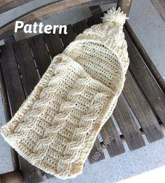 PATTERN crochet swaddle pattern cable crochet by LandOfKnots