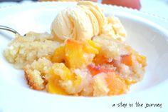 Perfect Peach Cobbler recipe! Especially with ice cream :o)