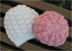 Let's learn how to knit pretty and warm basketweave hats. Just follow the easy and simple instructions (Pattern in PDF format) and start knitting...