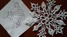Lots of snowflakes! Free Crochet Snowflake Patterns, Crochet Motif Patterns, Christmas Crochet Patterns, Holiday Crochet, Crochet Snowflakes, Crochet Diagram, Tatting Patterns, Crochet Tree, Crochet Stars
