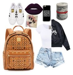 """""""M.C.M + BANKROLL"""" by kaylaphillips-2 on Polyvore featuring MCM, adidas Originals, Lime Crime and Casetify"""